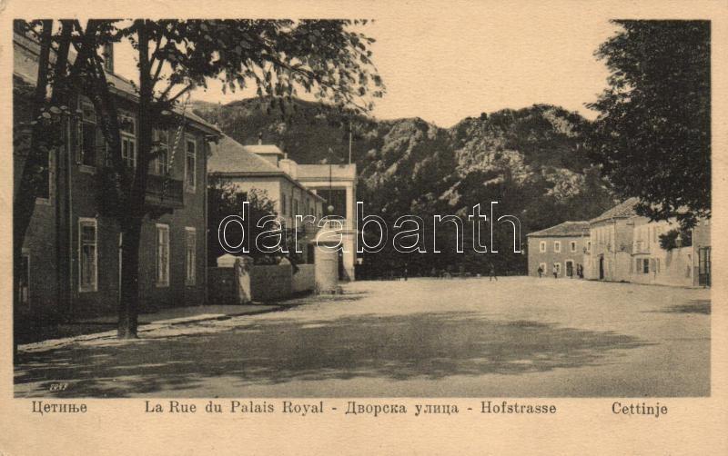 Cetinje, Hofstrasse / royal palace street view