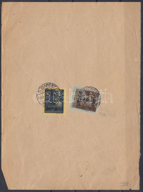 Inflation cover, (3.díjszabás) Telefonszámla könyvelési szelvény Kisegítő (II) 2P/4f + 3P/50f bérmentesítéssel