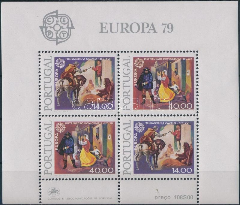 Europa CEPT, Postal History block Europa CEPT, Postatörténet blokk