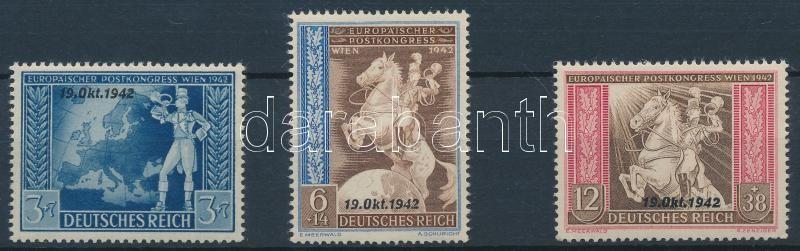 European postal convention overprinted set Európai postai egyezmény felülnyomott sor
