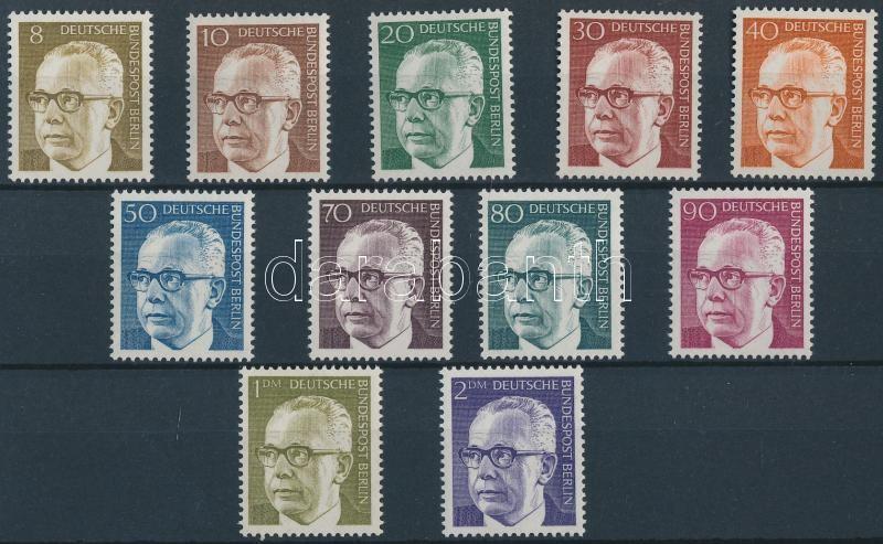 Definitive set (missing Mi 359), Forgalmi sor (hiányzik Mi 359)