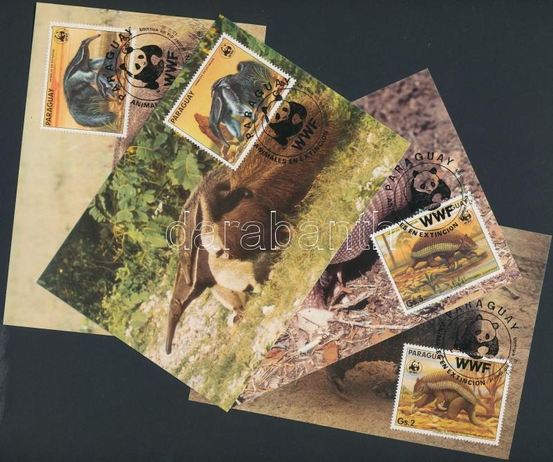 WWF: Endemic species set on 4 CM, WWF: Endemikus fajok sor 4 CM-en