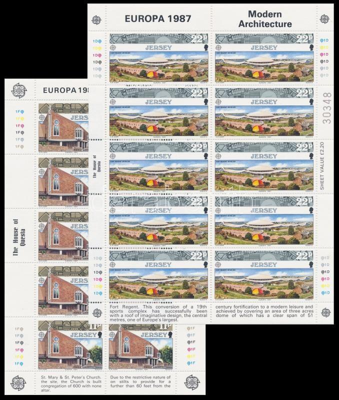 Europa CEPT, Architecture minisheet set, Europa CEPT, Építészet kisív sor