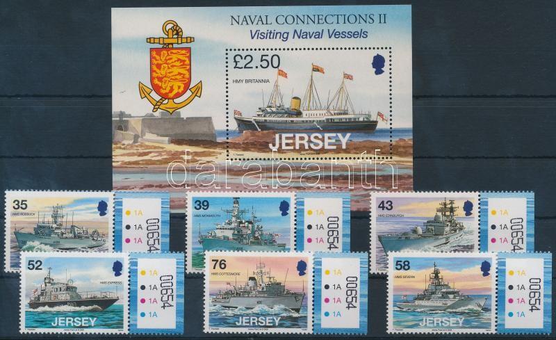 Navy margin set + block Haditengerészet ívszéli sor + blokk