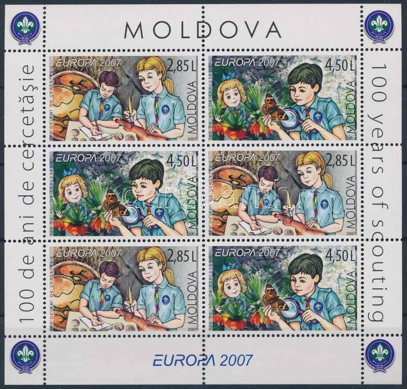 Europa CEPT scout stampbooklet sheet, Europa CEPT: Cserkészet bélyegfüzetlap