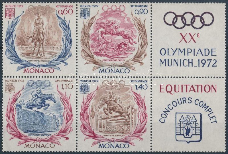 Summer olympics set in blocks of 6 with coupon, Nyári olimpia sor szelvényes hatostömbben