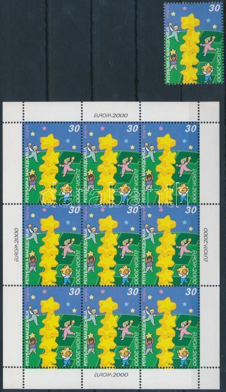 Europa CEPT stamp + minisheet Europa CEPT bélyeg + kisív
