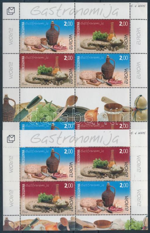Europa CEPT: Gastronomy mini sheet + block, Europa CEPT: Gasztronómia kisív + blokk