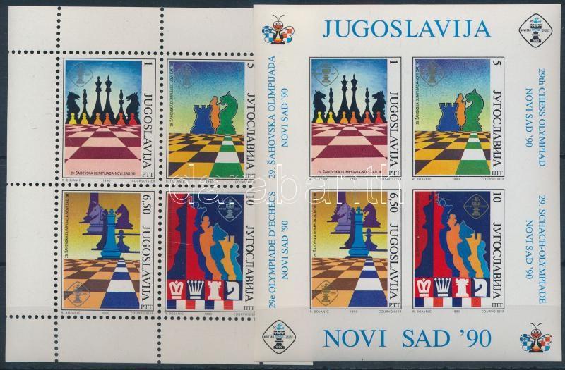 Chess Olympiad blockpair Sakk olimpia blokkpár