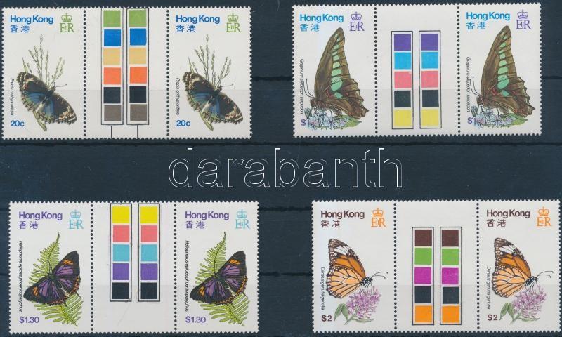Butterflies set sheet-centered pairs Lepkék sor ívközéprészes párokban