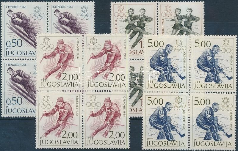 Winter Olympics set blocks of 4, Téli olimpia sor négyestömbökben