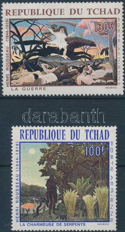 Henri Rousseau paintings set Henri Rousseau festmények sor