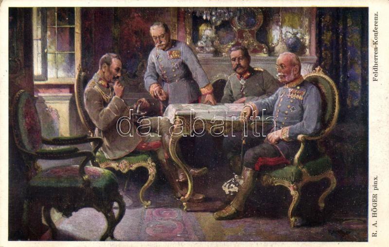 Feldherren-Konferezn, Kaiser Wilhelm, Hindenburg, Erzherzog Friedrich s: R. A. Höger