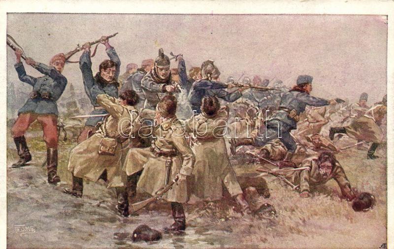 Aus dem goldenen Buche der Armee Serie III. Rotes Kreuz Postkarte Nr. 348. / K.u.K. military art postcard s: Fr. Jung, K.u.K. hadsereg művészeti képeslap, s: Fr. Jung