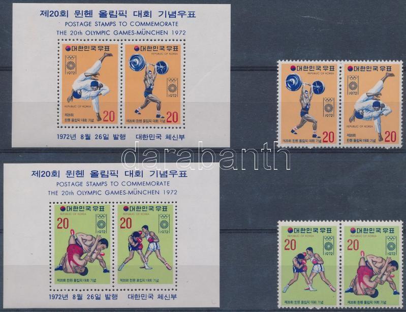 Summer Olympics set 2 pairs + blockset, Nyári olimpia sor 2 párban + blokksor