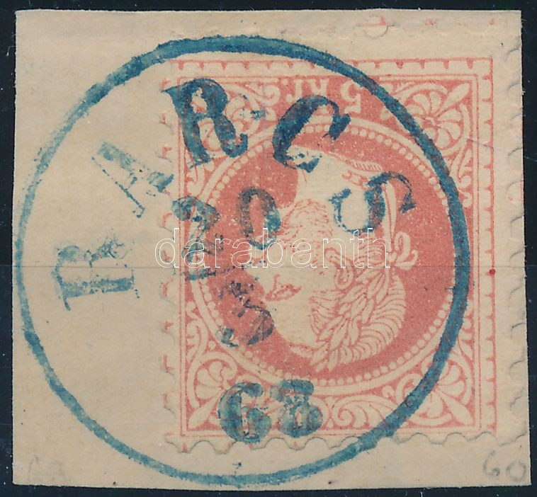 "Austria-Hungary classic postmark ""BARCS"" blue ""BARCS"" kék"