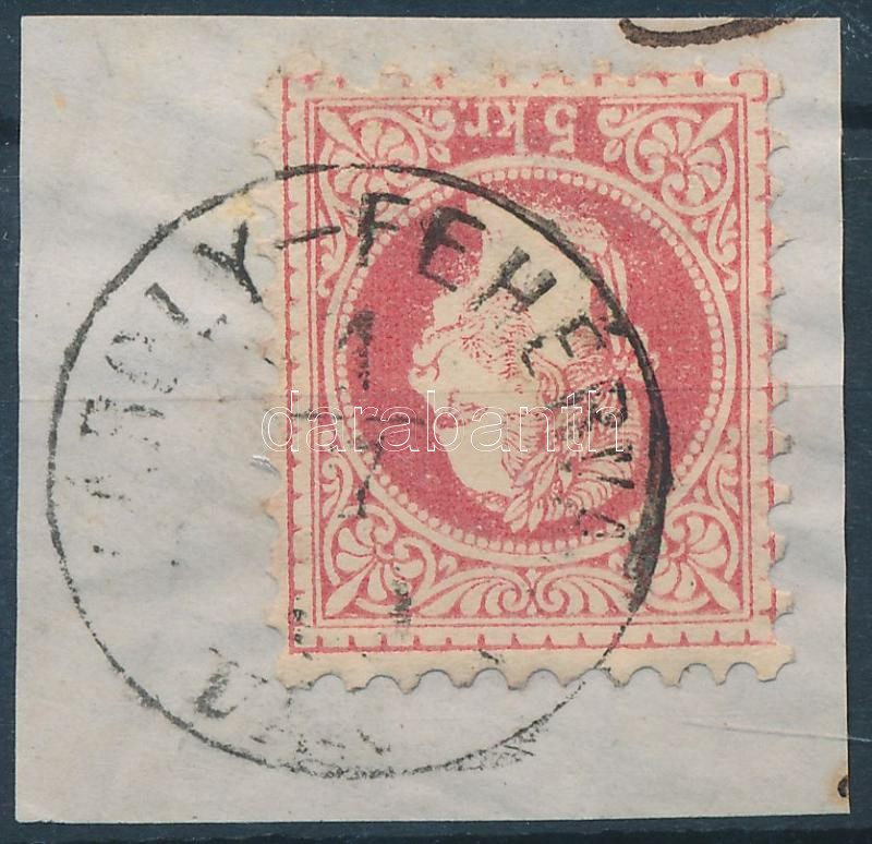 """Austria-Hungary-Romania classic postmark """"(KÁROL)Y-FEHÉRV(ÁR / VÁROS)"""" """"(KÁROL)Y-FEHÉRV(ÁR / VÁROS)"""""""