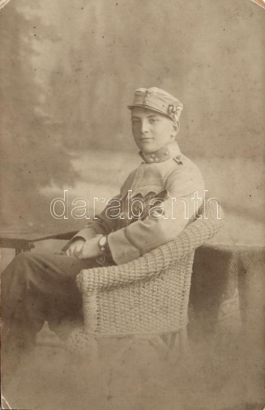WWI Austro-Hungarian soldier, photo, I. világháborús Osztrák-Magyar katona, Brenner Testvérek fényképészeti műterméből