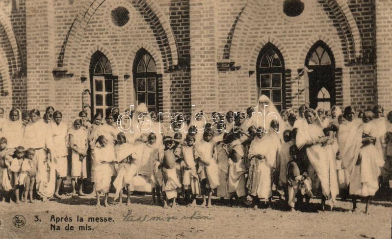 Apres la messe / Mission church, folklore; Mission des Indes Orientales, Missziós templom, folklór