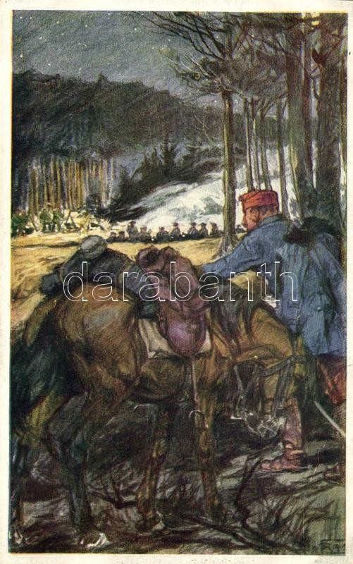 Aus dem goldenen Buche der Armee Serie II. Rotes Kreuz Postkarte Nr. 268. / K.u.K. military art postcard, K.u.K. katonai művészeti képeslap