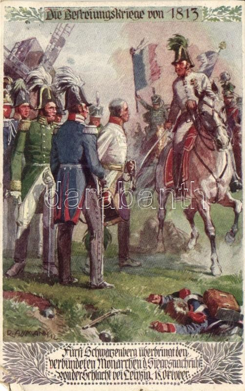 Die Berteiungskriege von 1813; Bund der Deutschen in Böhmen / German military art postcard s: R. Assmann, Német hadsereg, művészati képeslap s: R. Assmann
