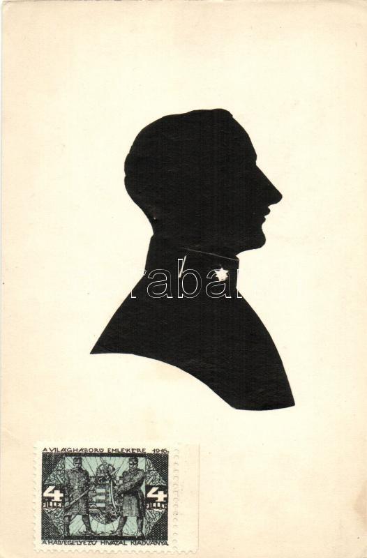 Silhouette of a military officer, Egy katonatiszt sziluettje