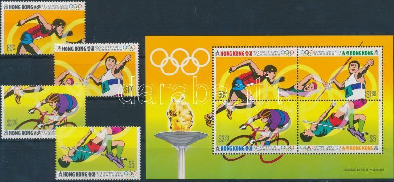 Summer Olympcis set + block Nyári olimpia sor + blokk