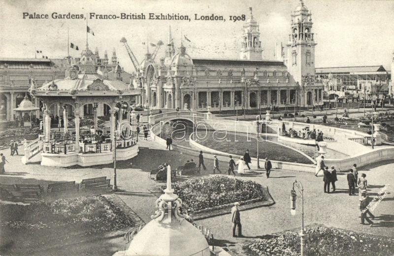 1908 London, Franco-British Exhibition, Palace Gardens
