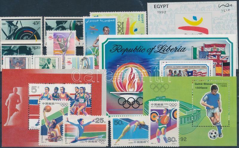 Olympics 13 stamps + 4 blocks, Olimpia motívum 13 db bélyeg és 4 db blokk