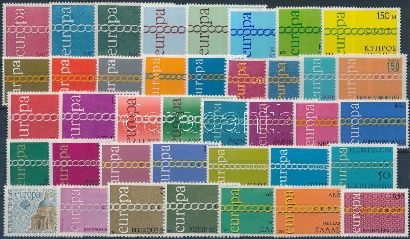 Europa CEPT almost complete year 2 sets missing, Europa CEPT 2 sor kivételével a teljes évfolyam kiadásai