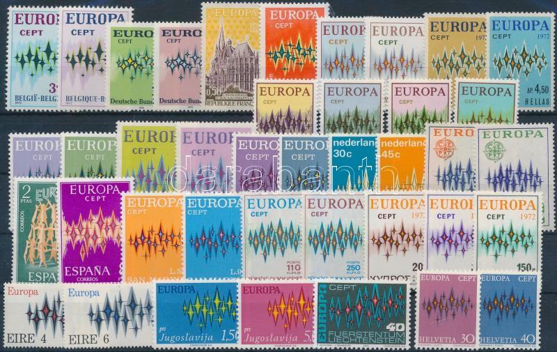 Europa CEPT almost complete year 3 sets missing, Europa CEPT 3 kiadás kivételével a teljes évfolyam kiadásai