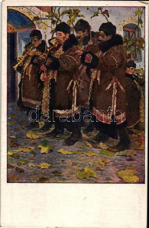 Hudci, Czech folklore s: Joza Uprka, Cseh folklór, hegedűsök, s: Joza Uprka