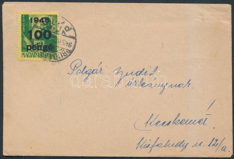 Inflation cover, (5.díjszabás) Távolsági hölgy levél Kisegítő (III) 100P/12f bérmentesítéssel