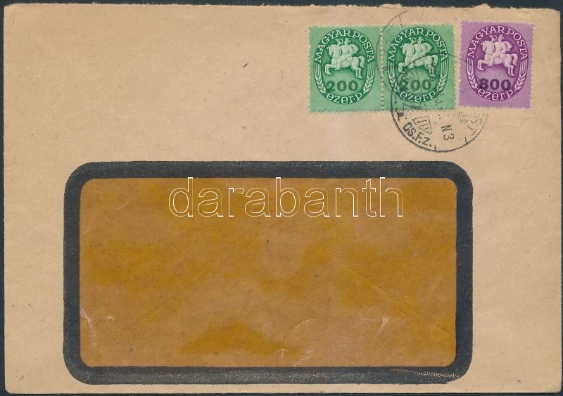 Inflation cover, (14.díjszabás) Helyi levél Lovasfutár 200eP pár + 800eP bérmentesítéssel
