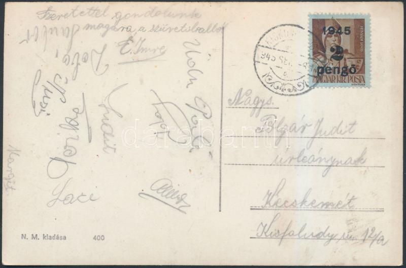 Inflation postcard, (2.díjszabás) Távolsági képeslap Kisegítő (II) 2P/4f bérmentesítve
