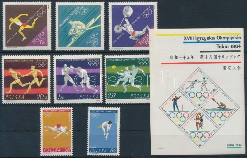 Summer Olympics, Tokyo set + blockset, Nyári Olimpia, Tokió sor + blokk sor