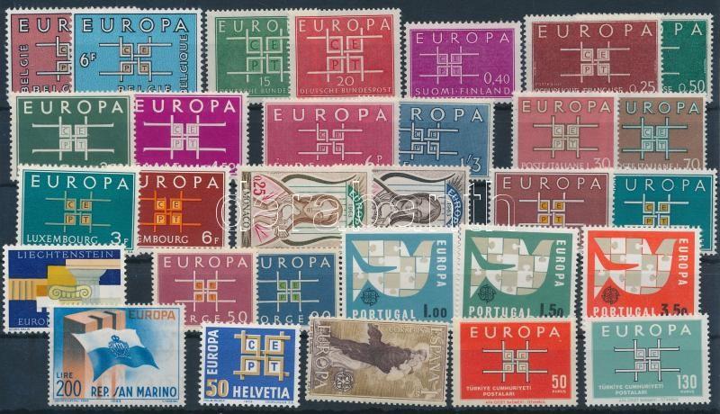 Europa CEPT 17 issues, Europa CEPT 17 klf kiadás az évből
