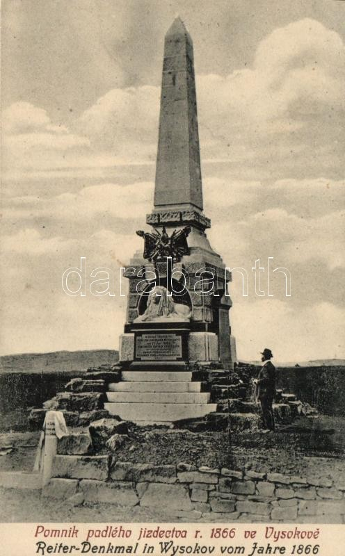 Vysokov, Wysokov bei Náchod; Reiter-Denkmal / military monument