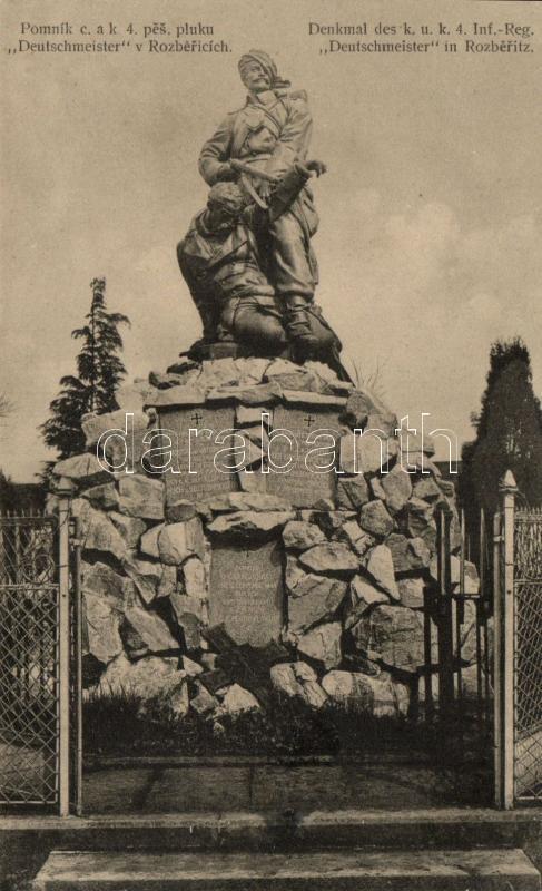 Rozberice, Rozberitz; Pomník c.a.k. 4. pes. pluku 'Deutschmeister' / military monument