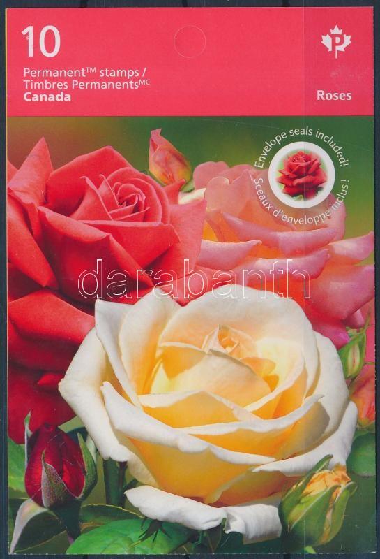 Rózsák öntapadós bélyegfüzet, Roses self-adhesive stampbooklet
