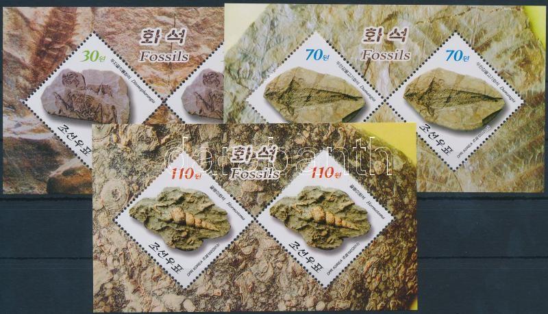Prehistoric fossils minisheet set, Őskori leletek kisívsor