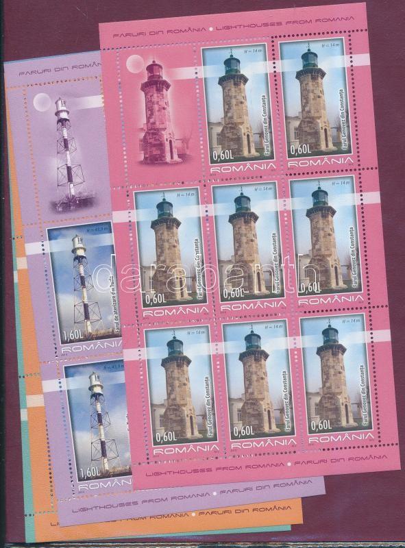 Lighthouses mini sheet set, Világítótornyok kisív sor