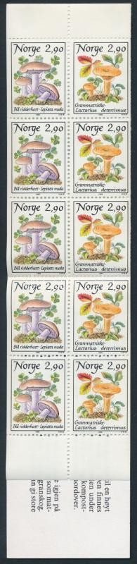 Gomba bélyegfüzet, Mushroom stamp-booklet