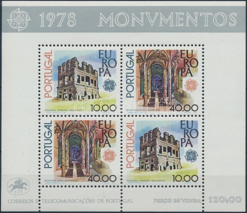 Europa CEPT Monuments block, Europa CEPT műemlék blokk