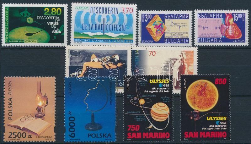 Europa CEPT 1993/1995 countries 5 sets, Europa CEPT 1993/1995 motívum tétel 5 klf ország 5 klf sor, közte 1 pár