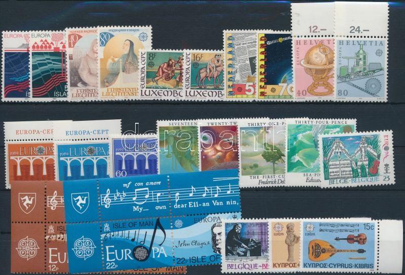 Europa CEPT 1983-1985 8 klf sor + 3 klf önálló érték, Europa CEPT 1983-1985 8 sets + 3 individual values