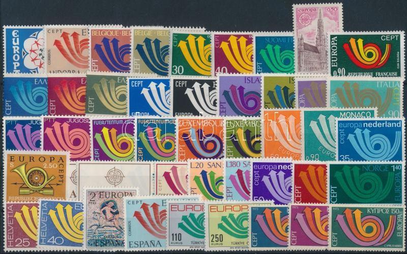 Europa CEPT almost complete year, Europa CEPT 1973 motívum tétel majdnem teljes évfolyam