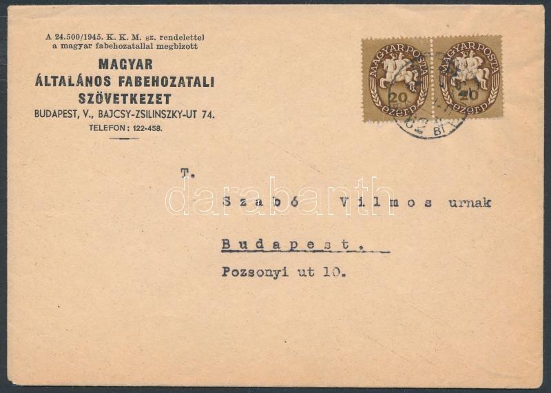 Inflation cover, (11. díjszabás) Budapesti helyi levél
