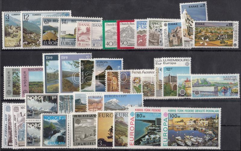 Europa CEPT 20 sets + 1 individual value, Europa CEPT 20 klf sor + 1 önálló érték