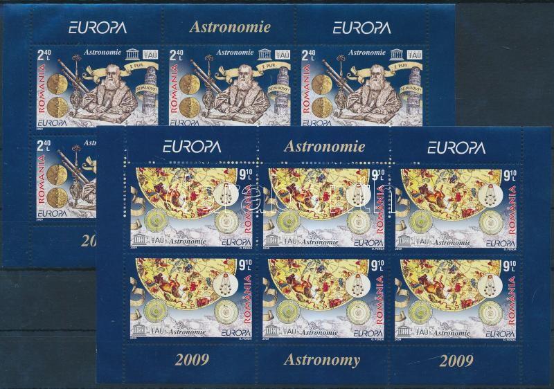 Europa CEPT, Astronomy mini sheet set, Europa CEPT, Asztronómia kisív sor